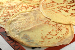 Crepes with Parmesan Mousse