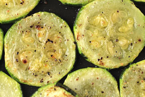 Baked Zucchini Carpaccio with 