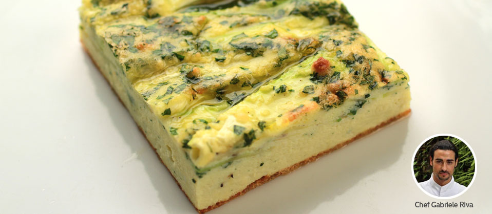 Zucchini, Mint and Basil Frittata